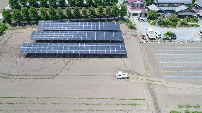 太陽光発電の施工例